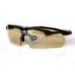 Тактичні окуляри Oakley Single. Жовта балістична лінза + шнур