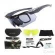 Тактичні окуляри ESS Crossbow. 3 лінзи. Репліка із захисними характеристиками оригіналу. Чорні